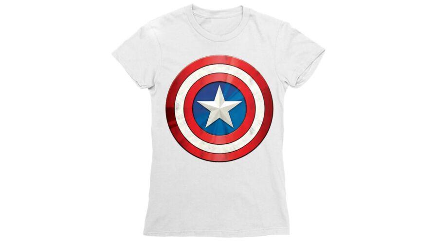 cd33e142ea Bosszúállók, Amerika Kapitány női rövid ujjú póló - A pajzs - Több ...