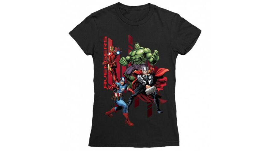 97a1c5fc57 Fekete Bosszúállók - Avengers női rövid ujjú póló - Szuperhősök