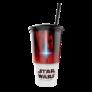 Kép 2/4 - Star Wars: Az utolsó Jedik pohár és Rey topper és popcorn tasak