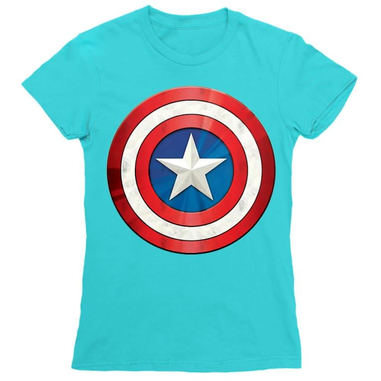 3c11fbb2ab Bosszúállók, Amerika Kapitány női rövid ujjú póló - A pajzs - Több színben,  5.990 Ft